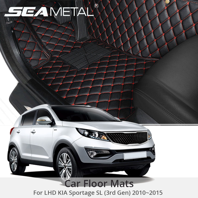 For LHD Kia Sportage SL 2015 2014 2013 2012 2011 2010 Car Floor Mats Artificial Leather