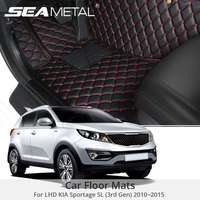 For LHD Kia Sportage SL 2015 2014 2013 2012 2011 2010 Car Floor Mats Artificial Leather Rug Surround Auto Interior Accessories