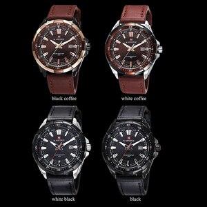 Image 4 - NAVIFORCE كرونوغراف أفضل بريندز الرجال الكلاسيكية ساعة مستديرة ساعة مزدوجة الرجال relojes hombre 2019 relogio masculino