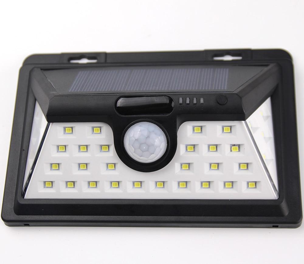 IP65 LED Solar garden Light 2835 SMD 34pcs White Solar Power Outdoor Garden Light PIR Motion Sensor Pathway Wall Lamp 3.7V