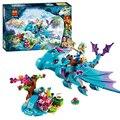 214 pçs/set bela 10500 o dragão de água aventura tijolos blocos de construção diy brinquedos educativos compatíveis com brinquedos