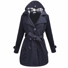 Fashion Womens Warm Winter Hooded Long Section Jacket Outwear Coat M-3XL