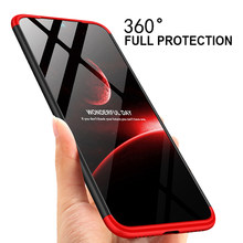 3 en 1 plástico duro 360 vidrio templado + funda Xiaomi Redmi Note 7 Anti-choque PC funda trasera Xiaomi Redmi Note 7 regalo de vidrio(China)