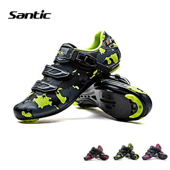 Santic Mountain Road Bike Shoes Breathable Hole Fabric TPU Outsole Lock Bicycle  Men Women Cycling Riding Racing Accessories