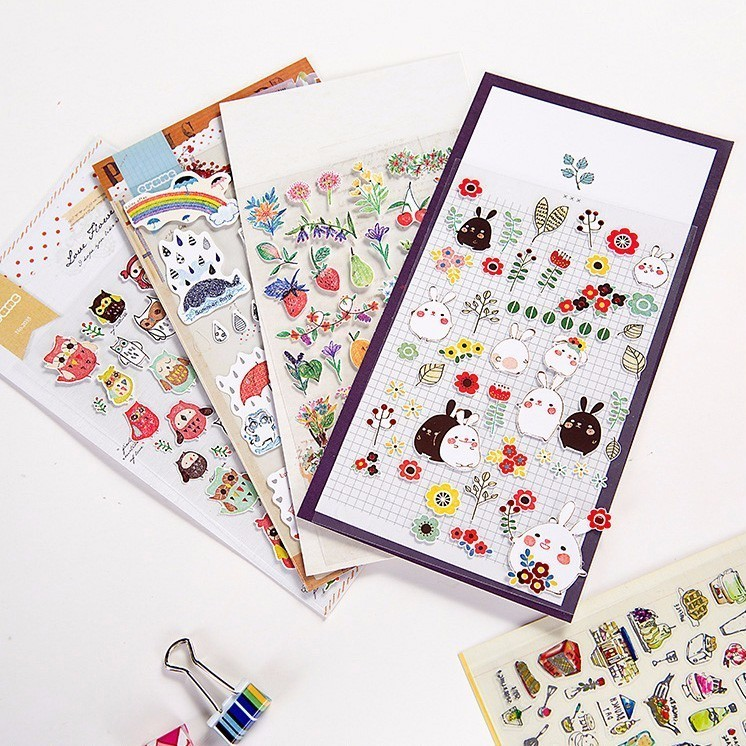 1 PCS New Cute Gourmet Festival Children Stationery Stickers For DIY Albums Scrapbooking Diary Decoration Cartoon Depicting