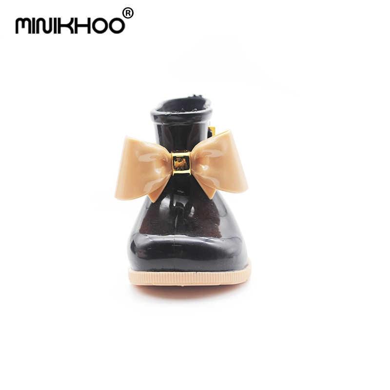 f308bdcdc ... Мини-Melissa/детские резиновые сапоги бабочка обувь Детские калоши  унисекс непромокаемые сапоги для девочек ...