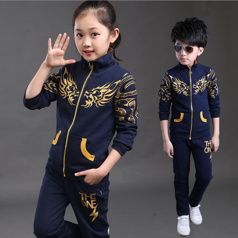 kids clothes 2016 new spring autumn boys girls sports suits 2pcs long sleeve print outerwear jacket+pants children causal sets spring newborn suits new fashion baby boys girls brand suits children sports jacket pants 2pcs sets children tracksuits