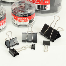 Binder-Clips Metal Black School/office-Supplies Long 51mm 12pcs/Set