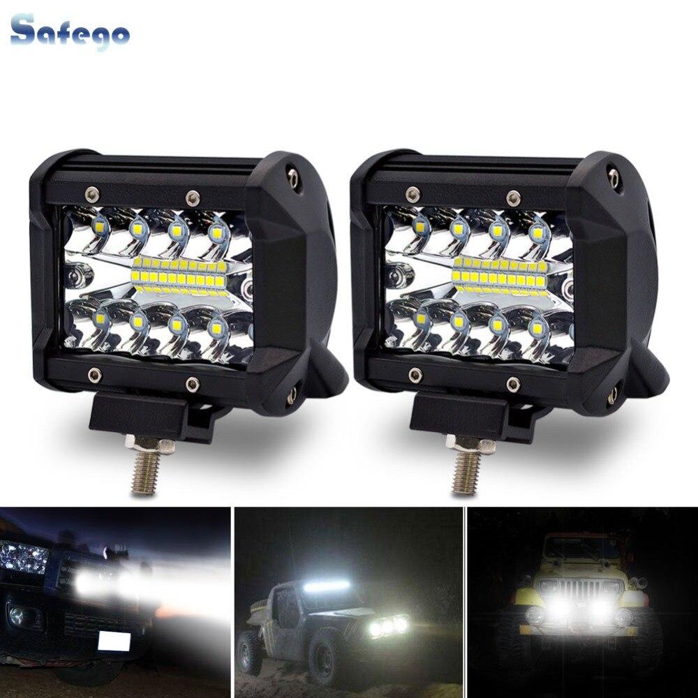 Safego LED Bar 4 Inch 60 W LED Arbeit Licht Bar Motorrad barra für Offroad Auto 4x4 led licht bar Für Lkw Boot SUV ATV 12 V 24 V