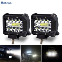 Safego LED Bar 4 Inch 60W Led Work Light Motorcycle Barra For Offroad Car 4x4 Truck Boat SUV ATV 12V 24V