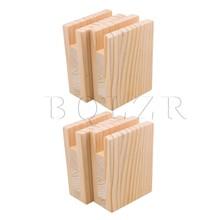 BQLZR 10 × 5 × 13.2 センチメートル木製テーブルデスクベッドライザー家具リフター収納ため 2 センチメートル溝足の 10 センチメートルまでリフトパック 4