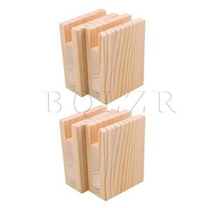 Image 1 - BQLZR 10x5x13.2 سنتيمتر طاولة من الخشب مكتب السرير الناهضون رفع الأثاث رفع التخزين ل 2 سنتيمتر قدم الأخدود يصل إلى 10 سنتيمتر رفع حزمة من 4
