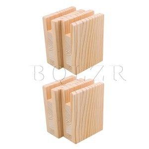 Image 1 - BQLZR 10x5x13.2cm עץ שולחן שולחן מיטת רצועות מעלית מתאמן ריהוט אחסון עבור 2CM חריץ רגליים עד 10CM מעלית חבילה של 4