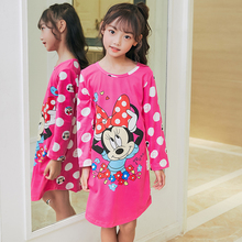 Kids Party Princess Nightgown New WAVMIT 2019 Children Clothing 3D Print spring Sleepwear Girls Baby Cotton Girl Sleepwear Cloth