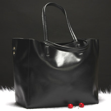 Large Bright Soft Cowhide Hand Bag