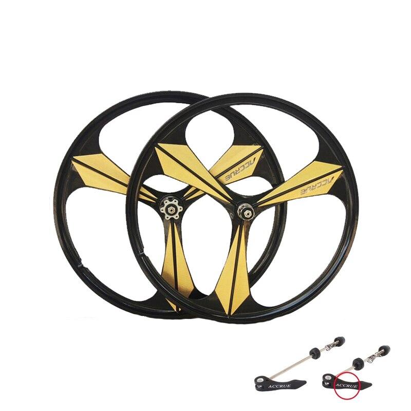 Jante vélo 3 rayons Cassette en alliage de magnésium roues 700C route vélo roue vélo jantes VTT roues