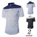 Dropship2016 Summer Fashion Polka Dot Printing Slim Fit Shirt Men's Short Sleeve Shirt ,sizem-2xl.2xl=us L ,gx28