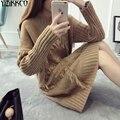 Женщины Свитер 2016 Зима Новая Мода Трикотажные Длинные Пуловеры Свитера Высокого Качества Кисточкой Тянуть Femme Sweter Mujer SZQ050