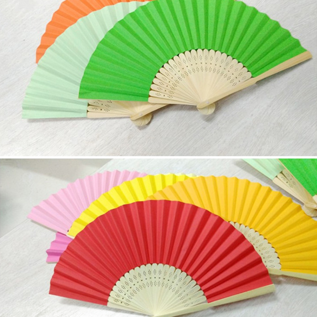 Ideal Handbag Accessory for Hot Weather BNWT Hand Made Paper /& Bamboo Fan