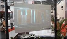 Продаются со скидкой! 1,3 м * 0,75 м темно серая самоклеящаяся задняя проекционная пленка для магазинов, аэропорта, выставочного зала, банка