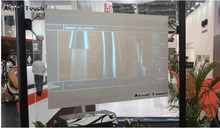 On sale! 1.3m * 0.75m Dark Gray self adhesive rear projection film for Stores, Airport ,Exhibition hall ,Bank