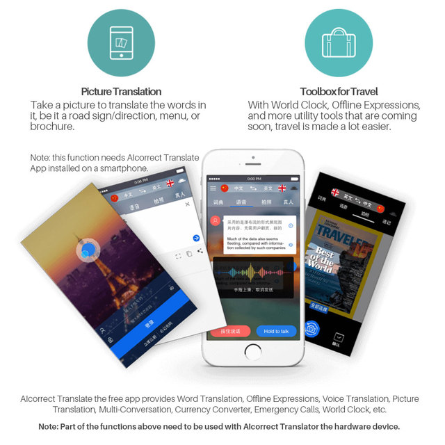 Portable Pocket Translator Voice 30 Languages Two-way Translation Learn Japanese Korean Spanish English Russian Translator 5