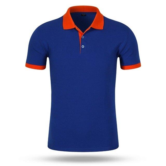 Принять заказ diy логотип Новый 2016 Поло Рубашки Для Мужчин Дизайнер поло Мужчины Хлопок свободные Коротким Рукавом Трикотажные футболки, рубашки поло,