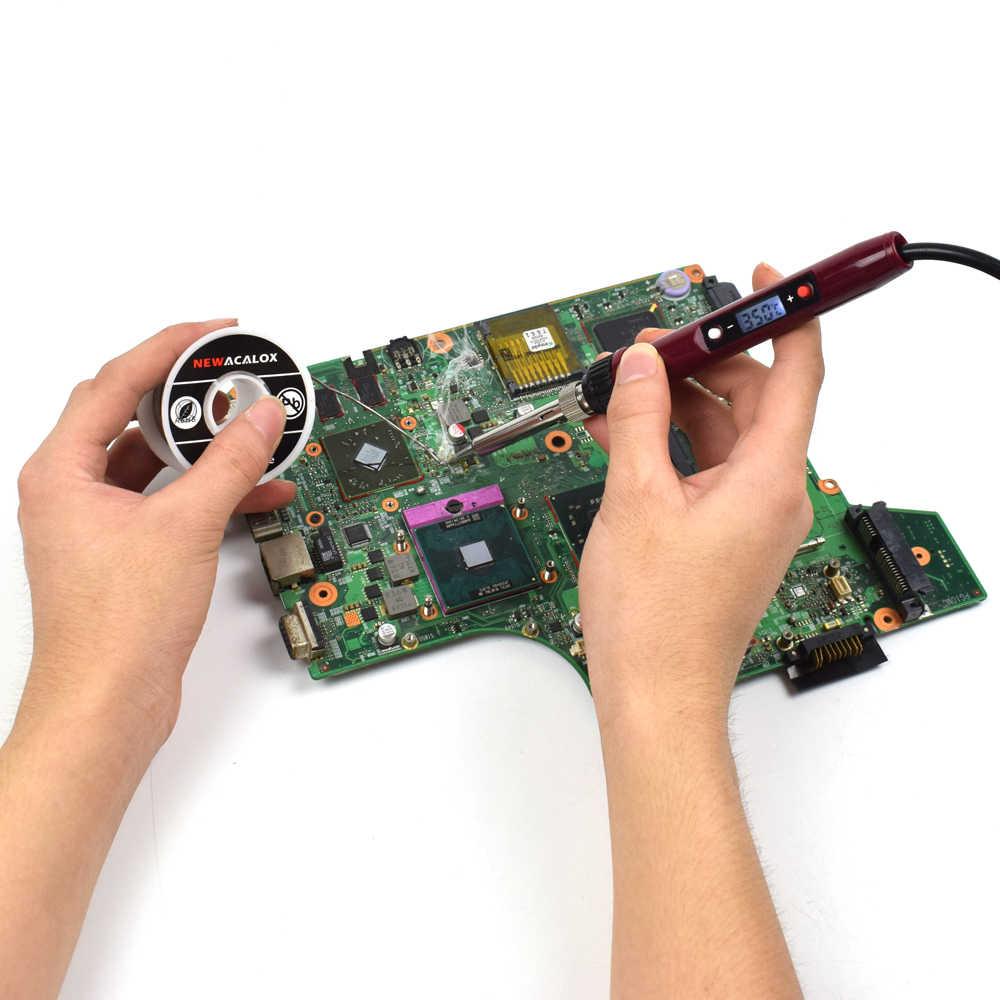 NEWACALOX 60 W/80 W/90 W Digitale Löten Eisen EU/Us-stecker LCD Temperatur Einstellbare Schweißen gun Blei-freies Mini Löten Station