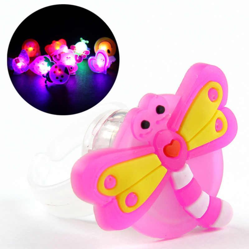 Люминесцентные игрушки Детский светодиодный кольцо с героями мультфильмов, светодиодный светящиеся кольца мигающий свет для детей, детей, взрослых мигающие кольца концертные флеш-игрушки Вечерние