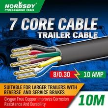 10M 7 Core Trailer Cable 2.5mm Train Wire Caravan Plug Socket Wiring NARVA 5872
