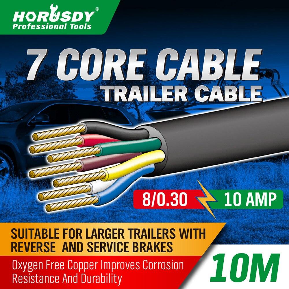 HORUSDY 7 Core Trailer Kabel 2.5mm Trein Draad Caravan Stopcontact ...