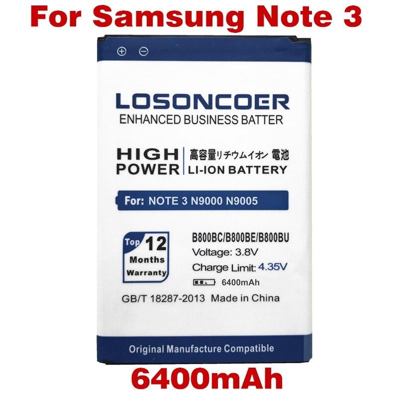 imágenes para 6400 mAh B800BC Para Samsung Galaxy Note 3 batería, N9000 N9005 N900A N900 N9002 N9008 Nota III note3 Para samsung nota 3 batería