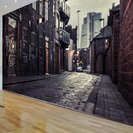 3D Europe's Streets Mural Wallpaper City Buildings Full