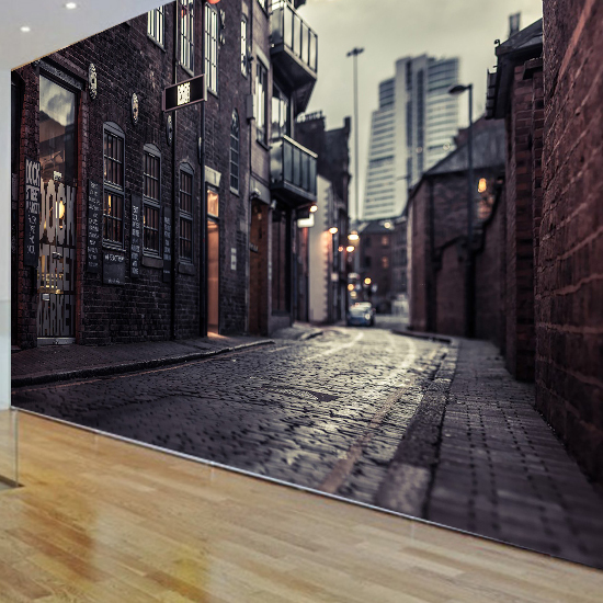 3D Europeu0027s Streets Mural Wallpaper City Buildings Full Wall Murals Print  Decals Home Decor Photo Wallpaper