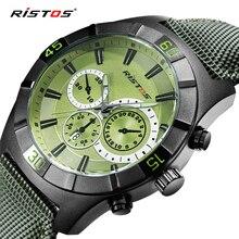RISTOS Deportes Al Aire Libre de Los Hombres Clásicos Relojes de Moda Casual Impermeable Aleación de la Marca de Los Hombres Reloj de Cuarzo Calendario Reloj de Pulsera Regalos