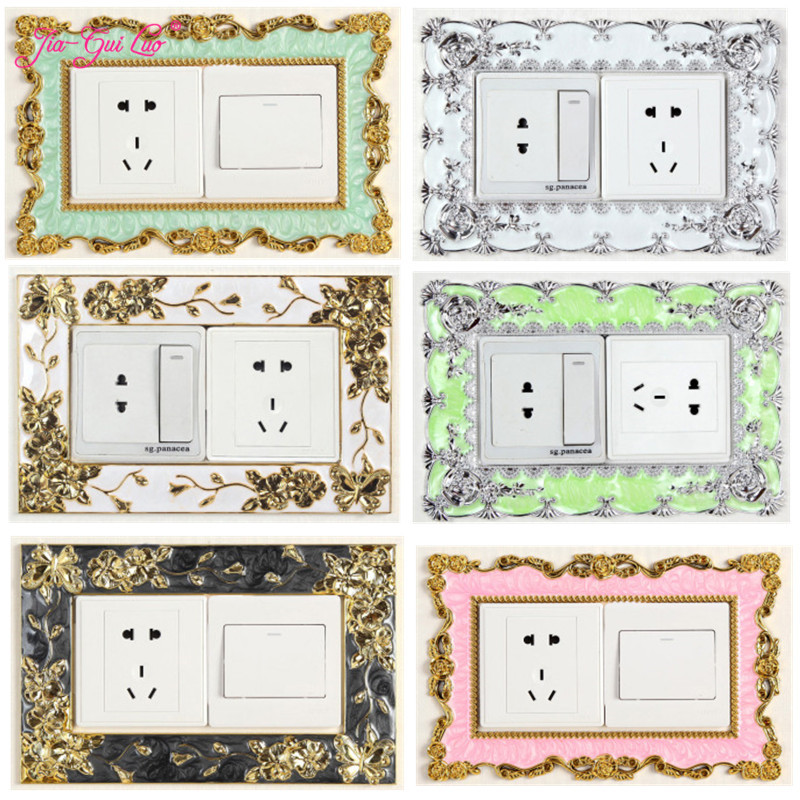JIA-GUI LUO European creative switch protective cover acrylic stickers decorative wall living room socket L009