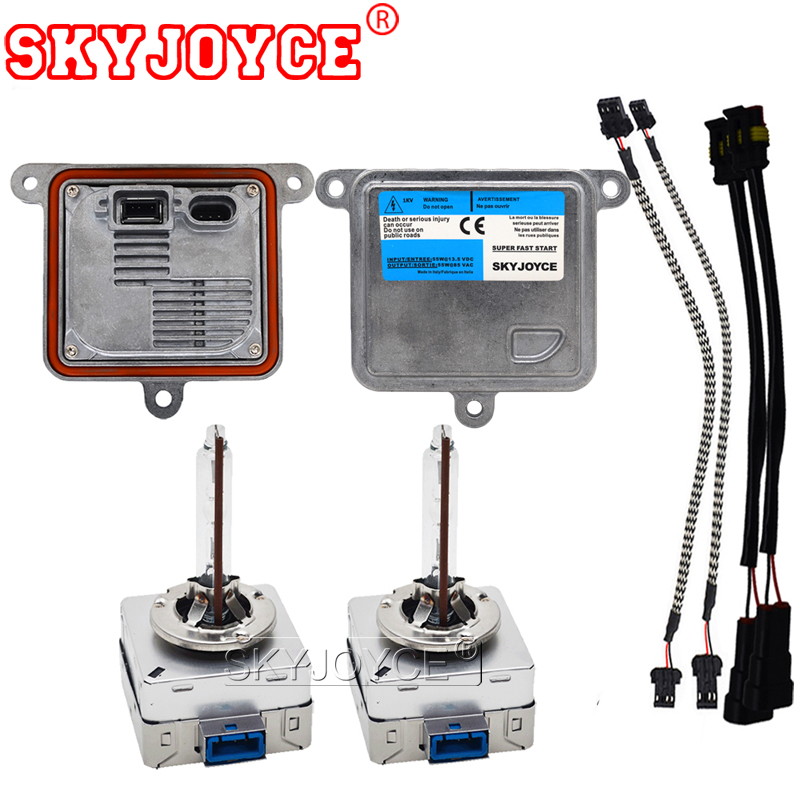 SKYJOYCE OEM Original 55W D8S hid xenon kit 5500K hid kit headlight bulb lamp 55W hid ballast D8S xenon car styling accessories makibes xenon hid kit car headlight xenon bulb slim ballast