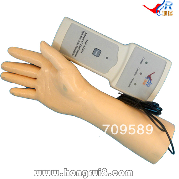 ISO Electronic IV Training Hand, Venipuncture Hand Model, IV Injection Hand model economic injectable training arm model with infusion stand iv arm injection teaching model