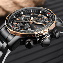 цена на Relogio Masculino Men Watch LIGE Top Brand Luxury Fashion Quartz Clock Men's Business Waterproof Big Dial Military Sport Watches