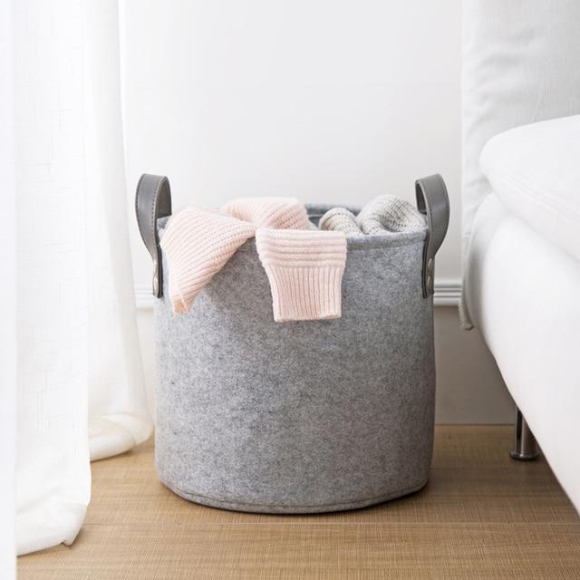 US $16.38 |Filze handliche schmutzige kleidung ablagekorb badezimmer  wäschekorb wohnzimmer spielzeug kleidung korb in Filze handliche schmutzige  ...