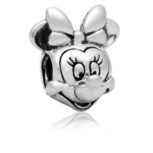 1pc bijoux micky mouse beads silver sieraden DIY large hole bisuteria Fit bracciale bracelet cartoon charms jewelry(China)