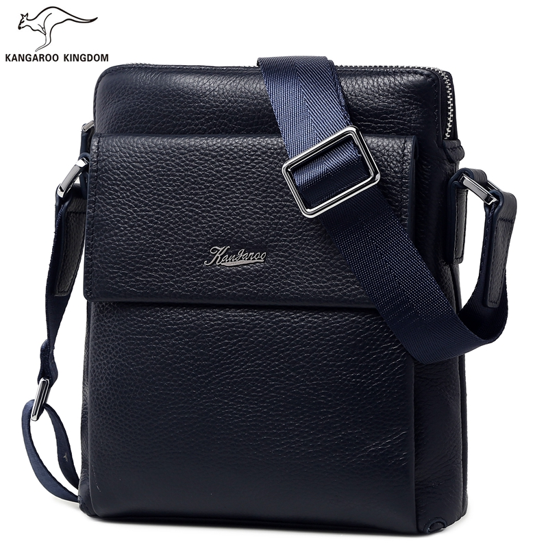 KANGAROO KINGDOM fashion men bag genuine leather male small crossbody shoulder  messenger bags brand bull captain2017 fashion genuine leather crossbody bags men small brand music messenger bags male shoulder bag chest bag for men