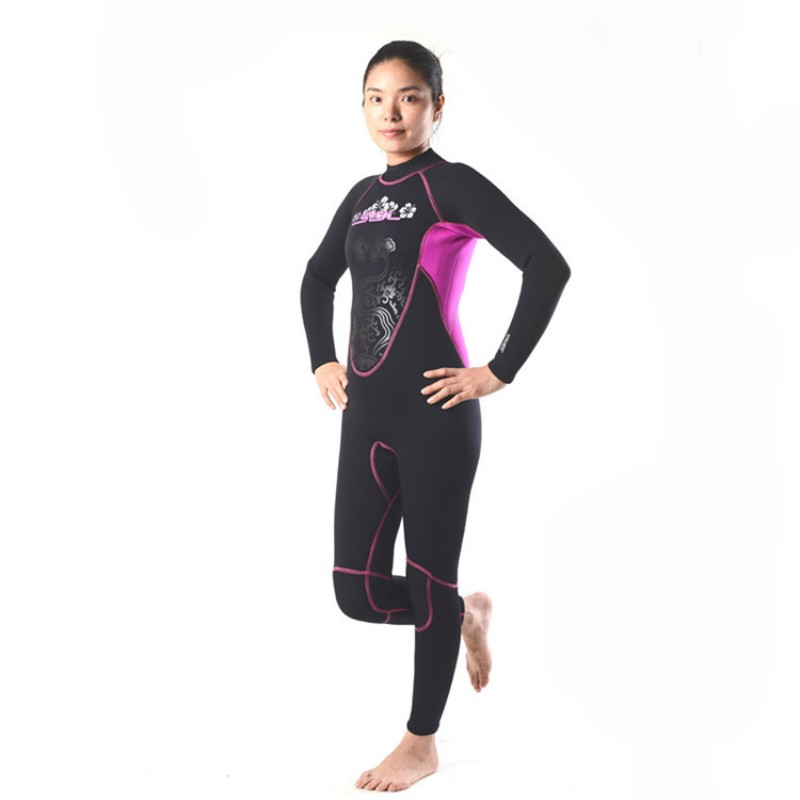 Brand New Womens neoprene 3mm wetsuit for female,woman diving ,Full Body wet suit, Long  ...