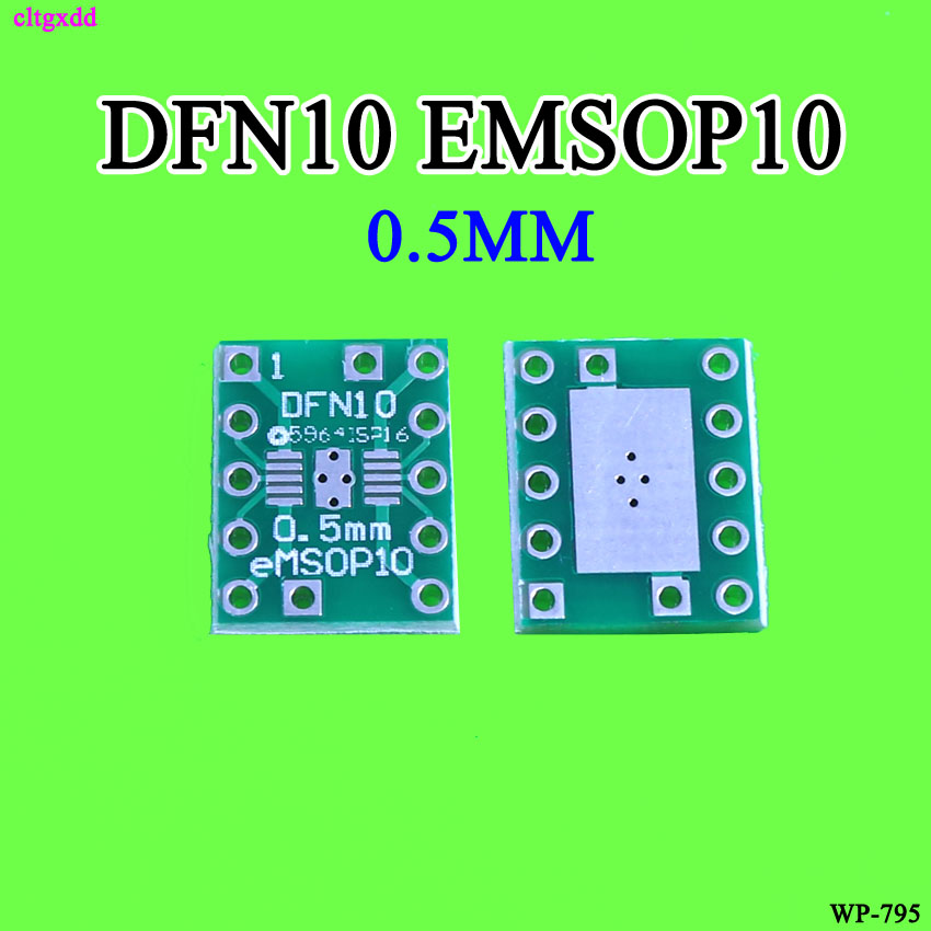 Cltgxdd 10PCS DFN10 EMSOP10 Turn DIP10 0.5MM Pitch With Cooling IC Adapter Socket / Adapter Plate PCB