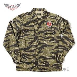 Image 2 - 비 재고 골든 타이거 카모 셔츠 빈티지 군사 타이거 스트라이프 전투 피로 유니폼 재킷