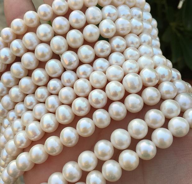 Gros Top perle d'eau douce réelle 10mm ronde perle blanche naturelle point culminant mode perle 37 cm perles en vrac femmes bijoux