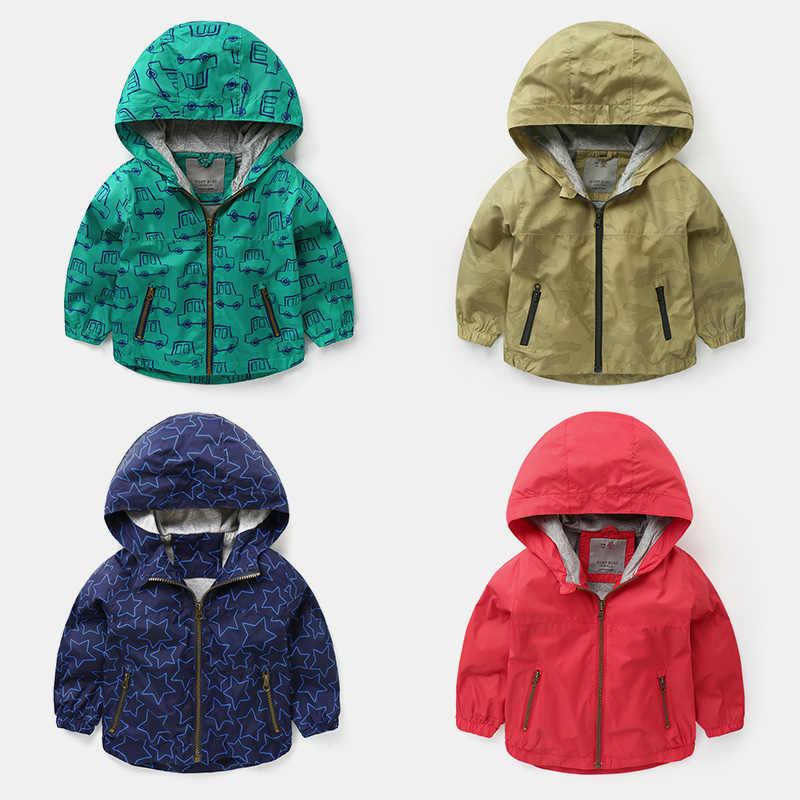 9c9f19761 ... 2019 Spring Jacket Boys Girls Kids Outerwear Cute Car Windbreaker Coats  Fashion Print Canvas Baby Children ...