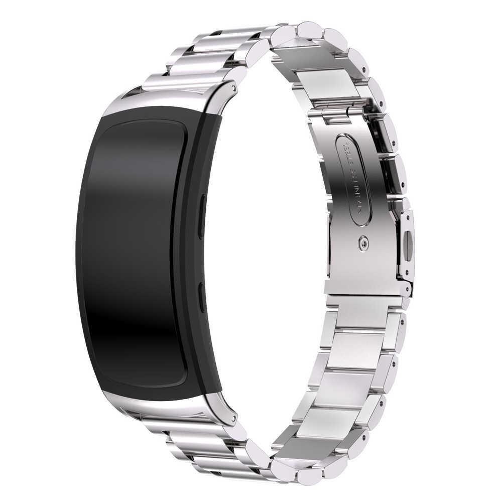 سوار ساعة يد فاخر من الفولاذ المقاوم للصدأ لهواتف سامسونج جالاكسي جير فيت 2 SM-R360 سوار ساعة ذكية