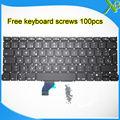 """Las Novedades Para El MacBook Pro Retina 13.3 """"A15022013 teclado SP Español teclado 100 unids tornillos 2013-2015 años"""