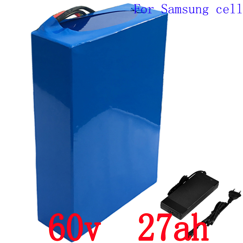 Free customs fee 60V Scooter Battery 60V 27AH Electric Bike Battery Use for Samsung 3000mah cell 50A BMS and 2A Charger namat люстра namat 3312 dasza black 6